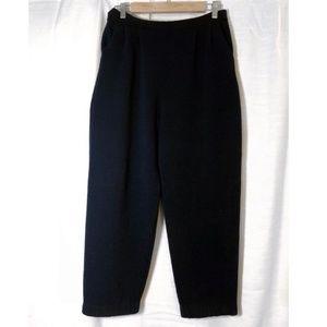 St. John Knit Black Capri Pocket Pants 12